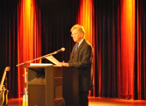 11.07.2012, The President of the Tibet Intergroup, Thomas Mann MEP, gives a speech.