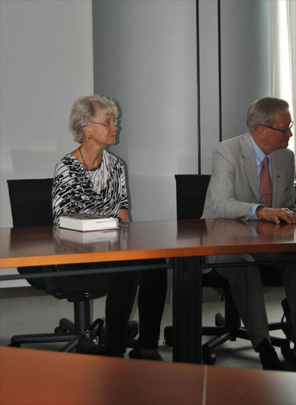 08.06.2012, MEP Tunne Kelam with his wife.
